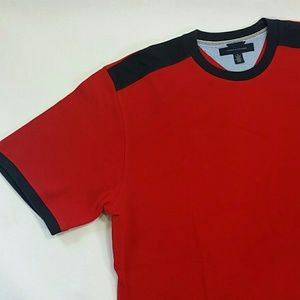 Tommy Hilfiger Men's XL Red Waffle Weave Shirt